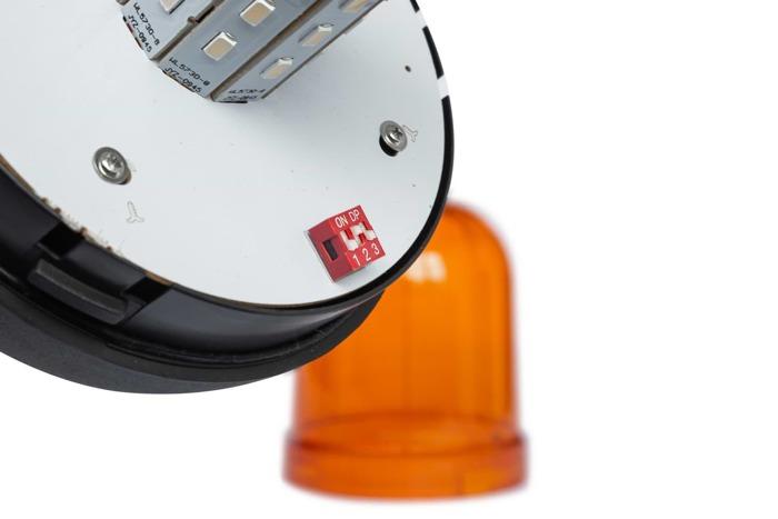 Avertizor optic ,,girofar'' cu LED SMD 166D cu 3 funcții