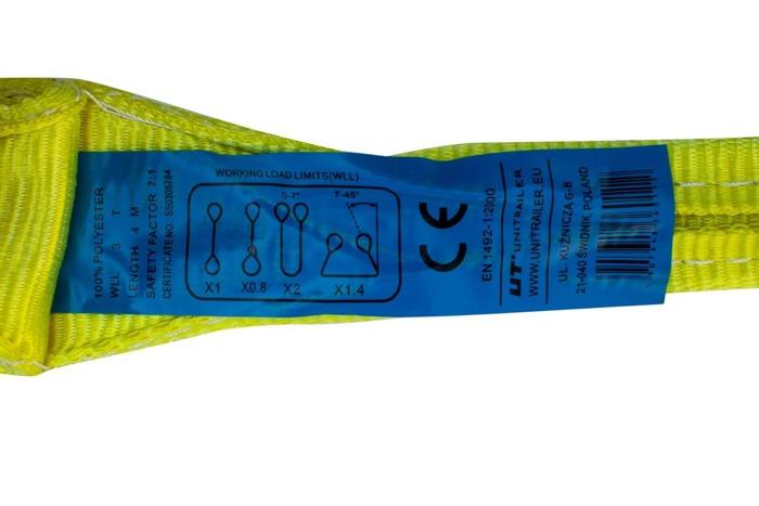 Bandă elastică pt. transport 3T/4M 90 MM UNITRAILER