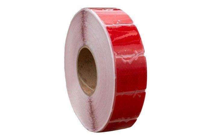 Banda reflectorizantă roșie segmentată - 1 metru