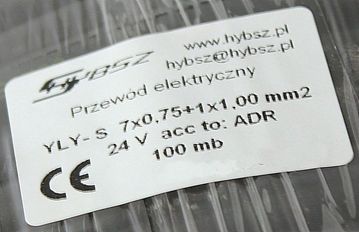 Cablu electric 7 fire YLYs 7x0.75+1x1,0mm 1m