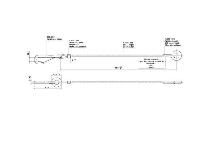 Cablu frână de urgență AL-KO 3000 kg