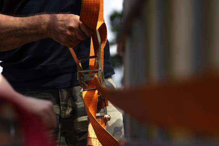 Chingă ancorare cu clichet 6 m/50 mm/5 t