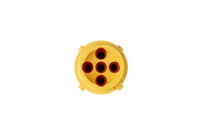 Conector ASPÖCK 5-PIN tip baionetă, moș, galben