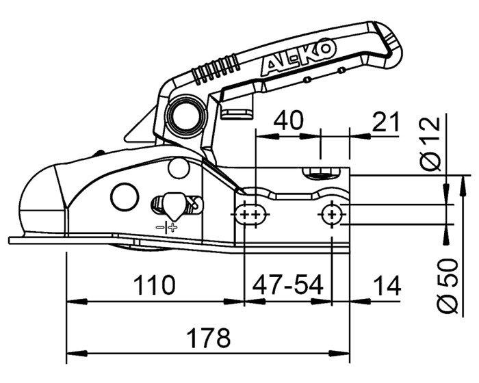 Cuplă Soft-Dock AL-KO AK161 1600 kg pentru remorcă