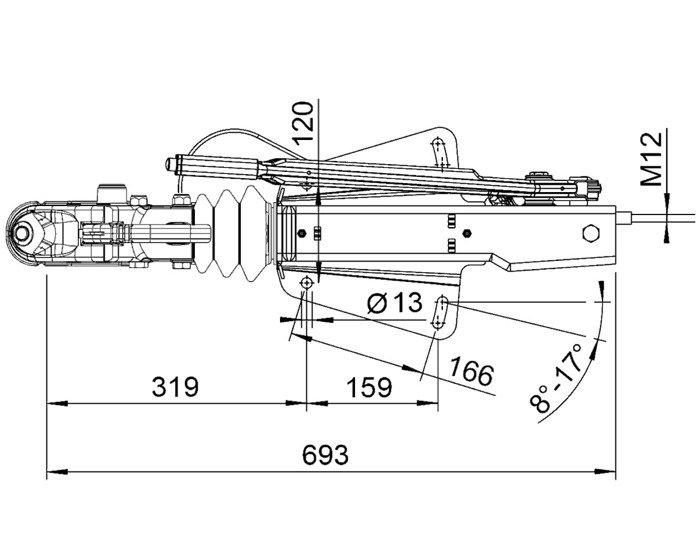 Frână inerțială pentru remorci  AL-KO 3000kg V 251G AK300