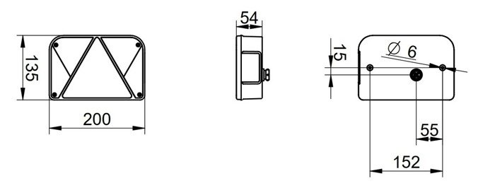 Lampă spate multipoint pentru remorci UNITRAILER DPT 35 dreaptă