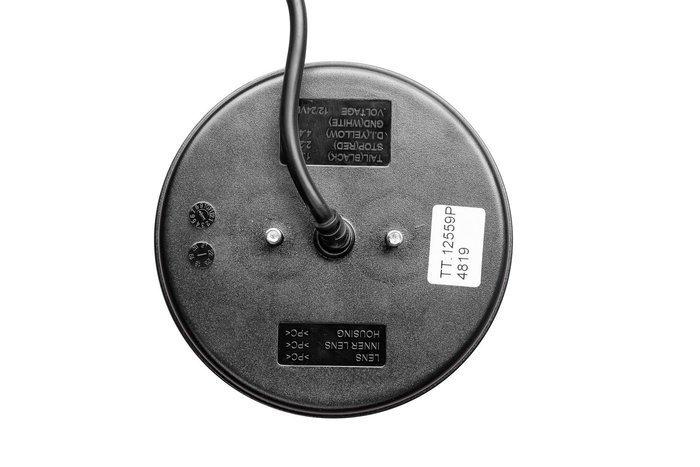 Lampă spate rotundă stângă cu LED 12-24V cu semnzalizare dinamică