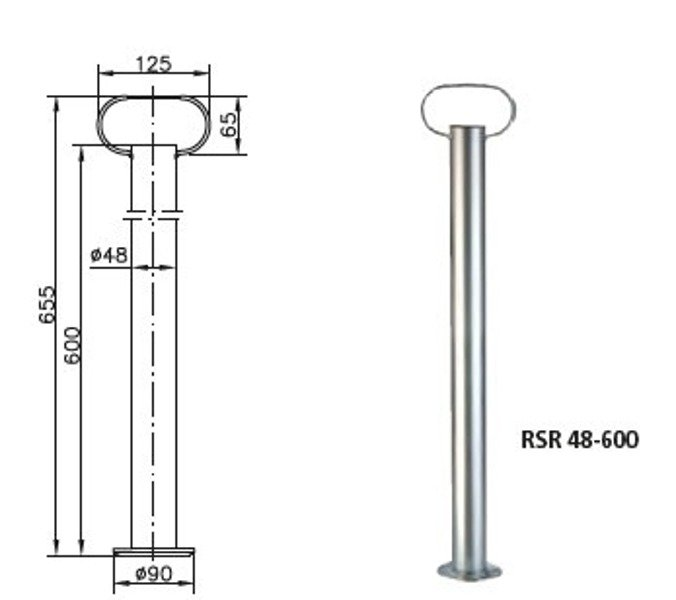 Picior de sprijin remorci Winterhoff RSR 48 - 600