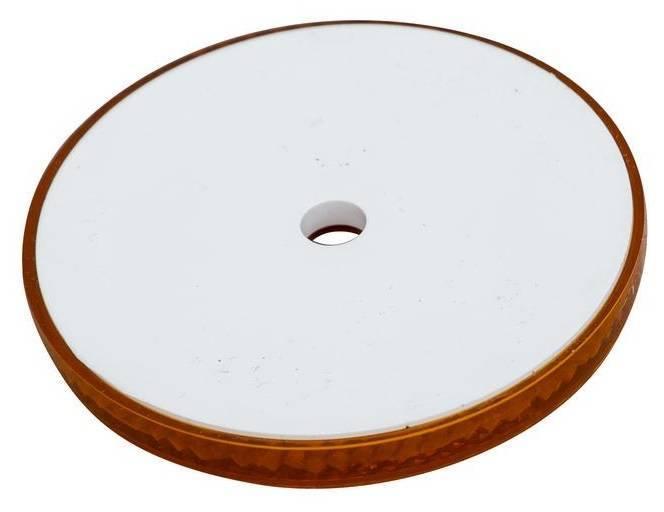 Reflector rotund portocaliu cu diametrul de 60 de mm cu gaura fixare