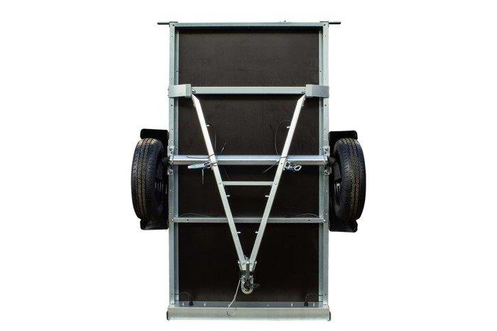 Remorca auto 200 x 106 Garden Traler 200 Unitrailer, masa totală maximă admisă de 750 kg