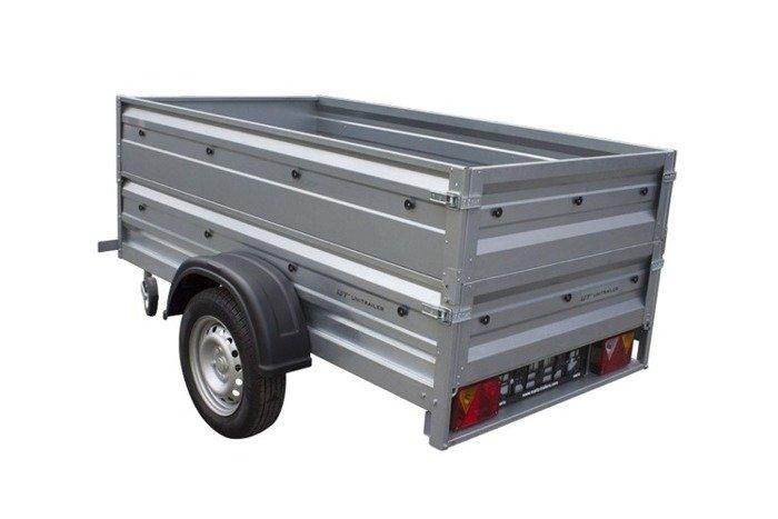 Remorca auto 200 x 106 ușoară, cu extensii obloane, Garden Traler 200 Unitrailer, masa totală maximă admisă de 750 kg