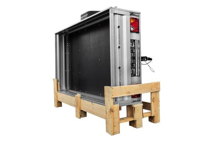 Remorca transport 236x125 Garden Trailer 236 Unitrailer 750 KG înset cu roată de sprijin