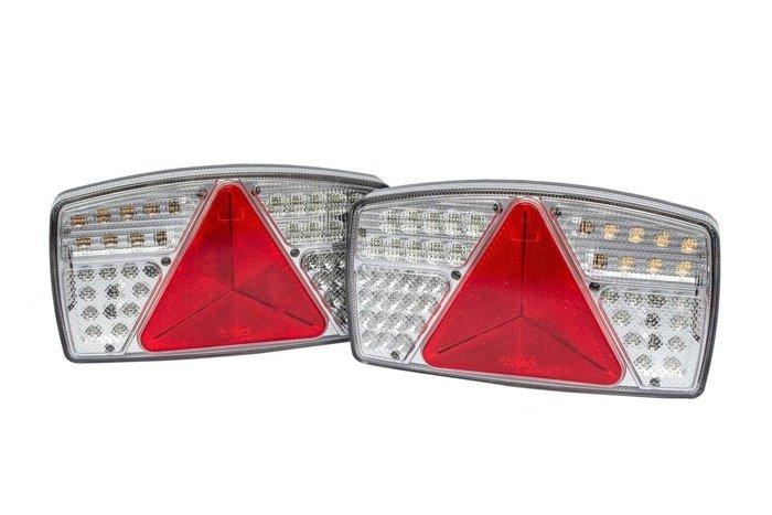 Set: 2x Fabrilcar by Aspöck lampă spate LED 7- funcțională stângă dreaptă