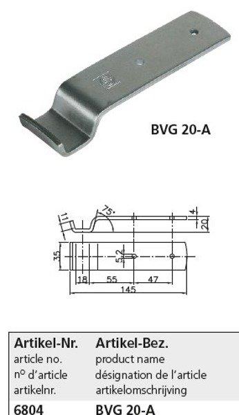 Set: Placă pentru închizătoare BV 20-3 + închizătoare oblon remorcă BVG 20-1 Winterhoff
