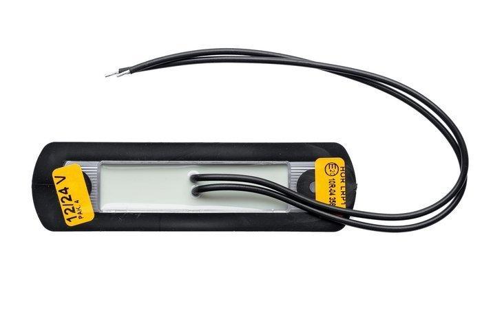 Set de 4 lămpi de gabarit cu LED-uri portocalie pe o bază din cauciuc Horpol