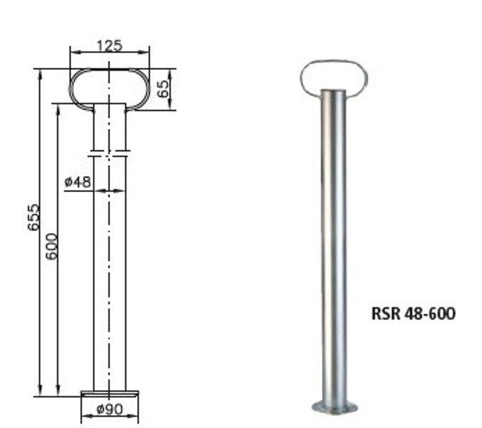 Set: picior de sprijin remorcă RSR 48 - 600 și clemă fontă 48 Winterhoff