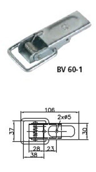 Set: placă pentru îchidere oblon BV 60-1 și închizătoare BVG 60-A - Winterhoff
