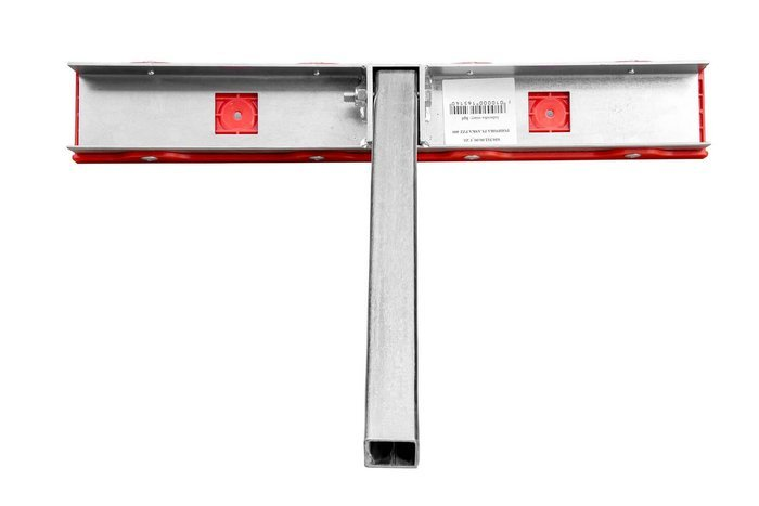Suport reglaj dublu plat roșu -PZ2 H=400mm