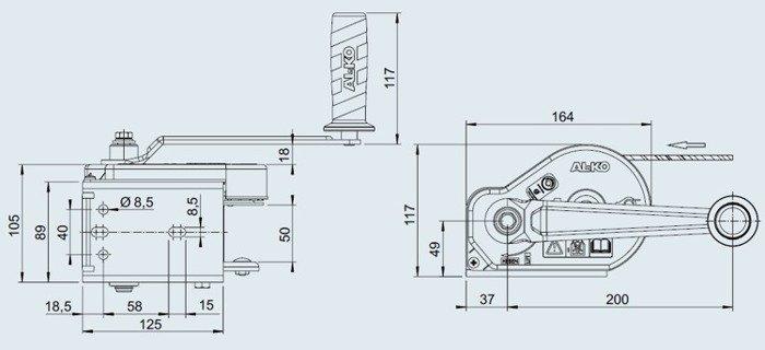 Troliu manual AL-KO tip 351